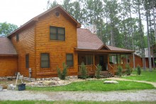 Refinish your log cabin